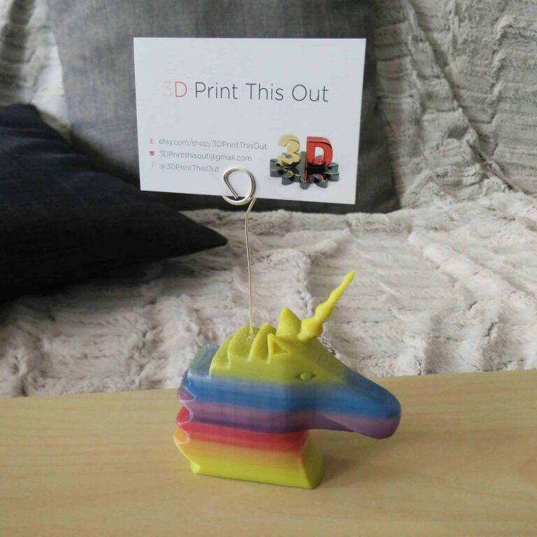 Rainbow unicorn photo-holder