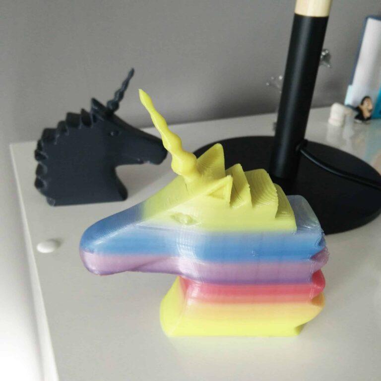 black and rainbow unicorn photo-holder