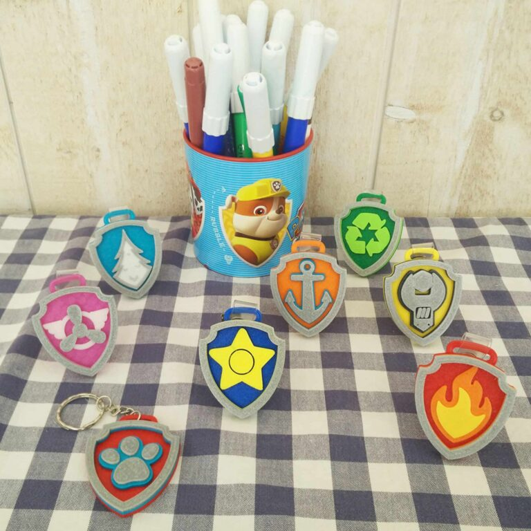 9 beautiful Paw Patrol badges