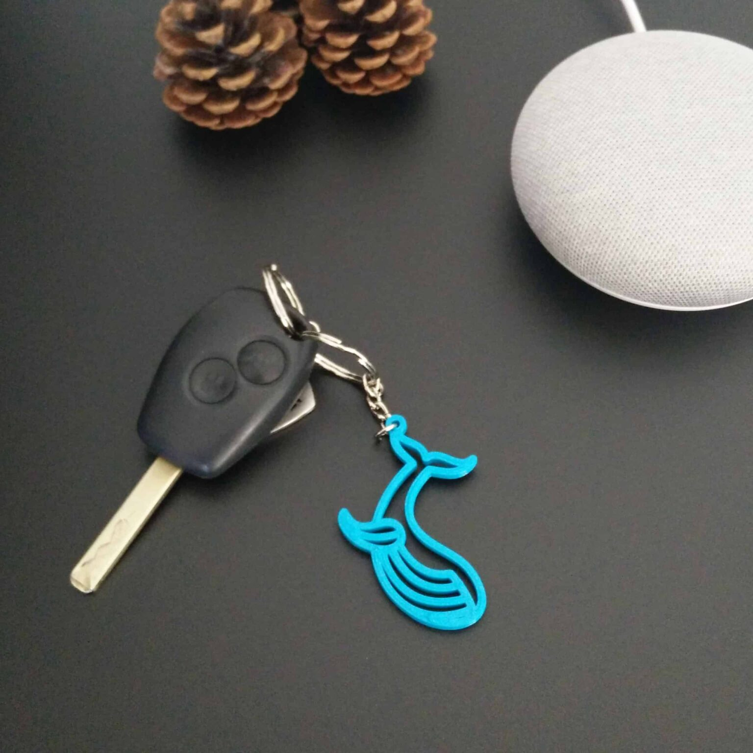 Blue Whale keychain - 3D printed