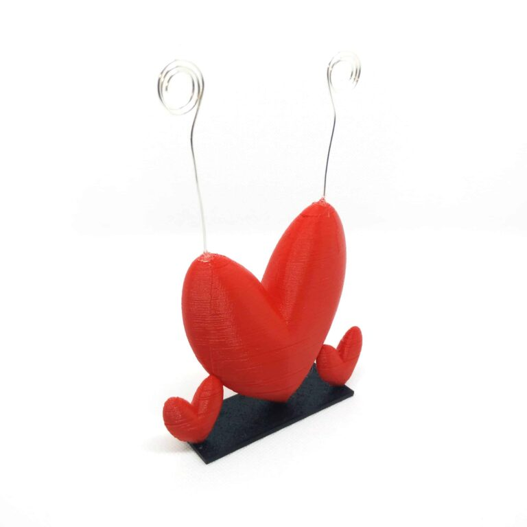 Red heart photo-holder perfect for love gift