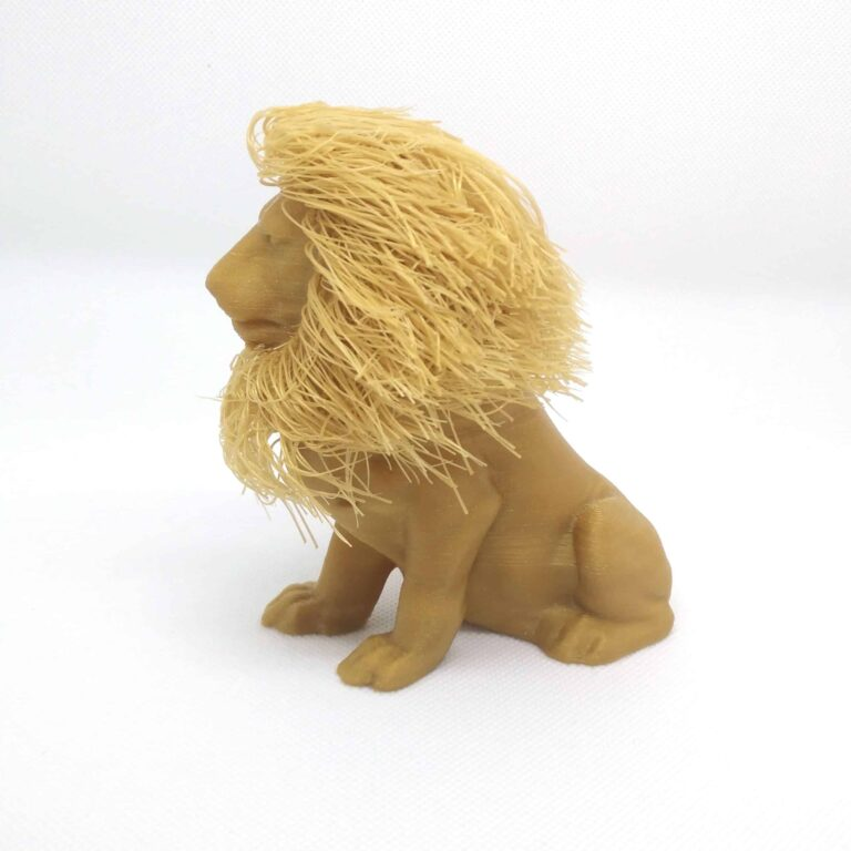 3D Printed decorative gold lion