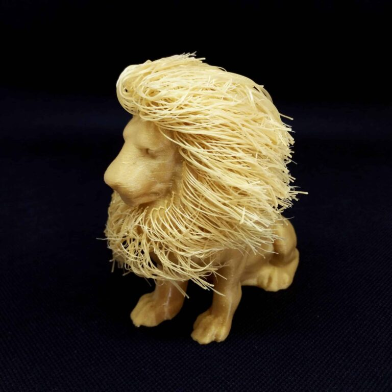 Zoom on the mane of the 3D Printed lion