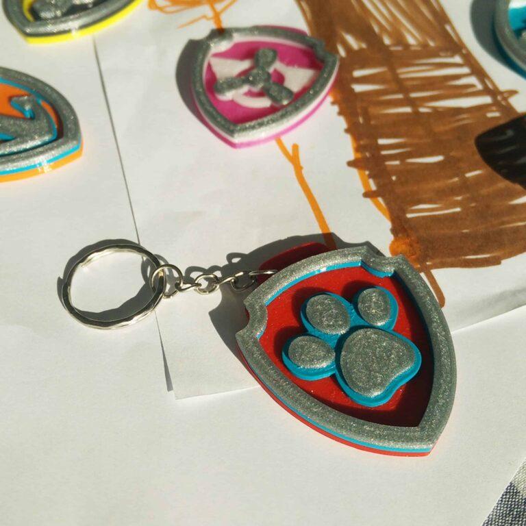 Paw Patrol Ryder keychain