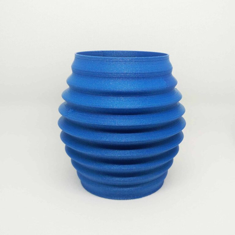 blue decorative flower vase