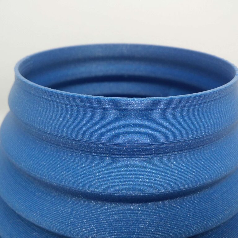 details of the 3D printing flower vase