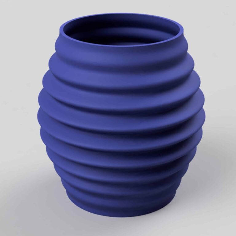 the unique, selfmade and modern design of the vase