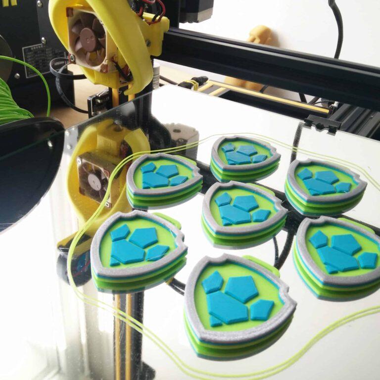 badges pat patrouille rex imprimés en 3D